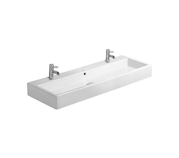 Duravit Vero White 1200 x 470mm 2 Tap Hole Grinded Basin - 0454120026