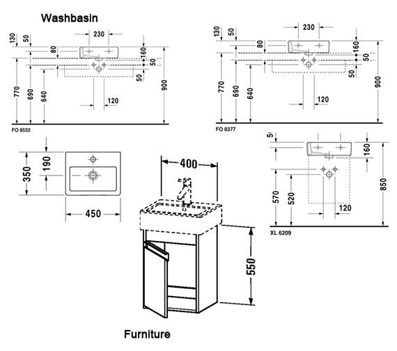 Technical drawing QS-V59115 / KT6630L1818