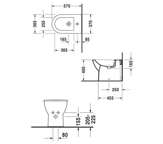 Technical drawing QS-V59280 / 2250100000