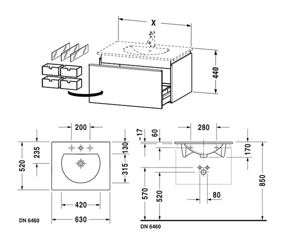 Technical drawing QS-V63303 / DN646001818