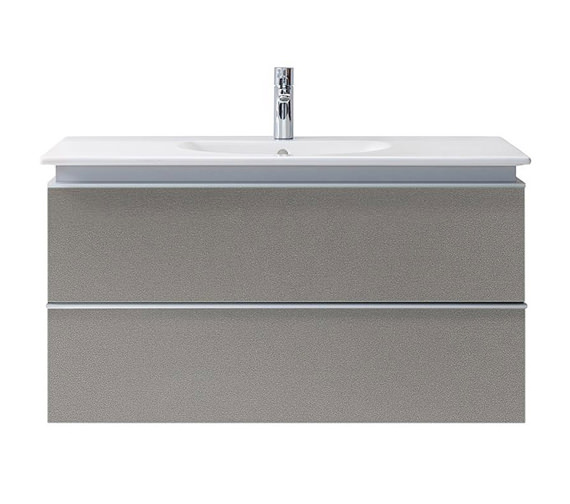 Duravit Darling New 1000mm 2 Drawers White Matt Unit With Basin