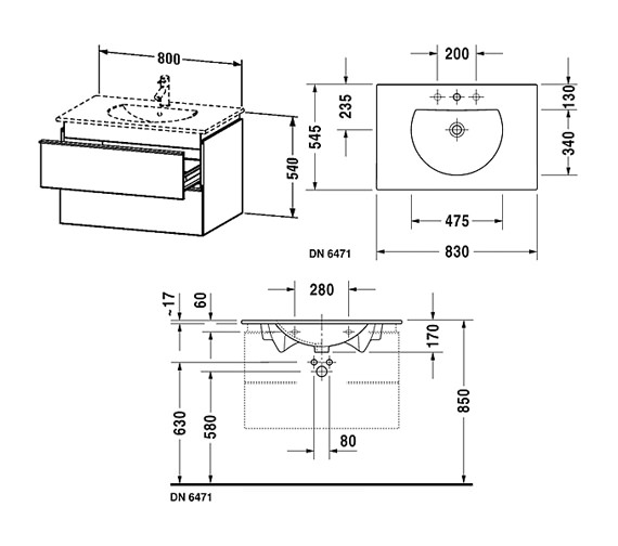 Technical drawing QS-V63307 / DN647101814