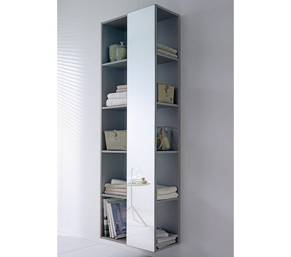 Duravit Darling New Shelf Tall With Right Side Mirror - DN1276R1414
