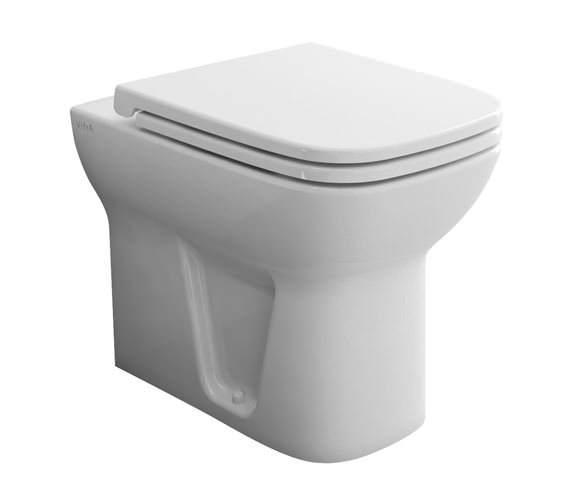 VitrA S20 Back-To-Wall WC Pan With Toilet Seat - 5520L003-0075