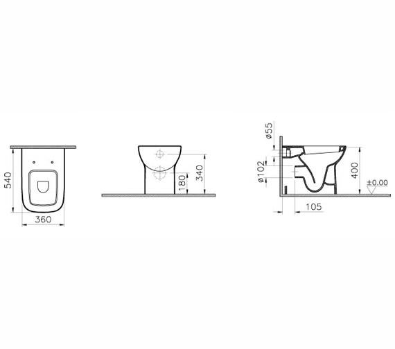 Technical drawing QS-V59720 / 5520L003-0075
