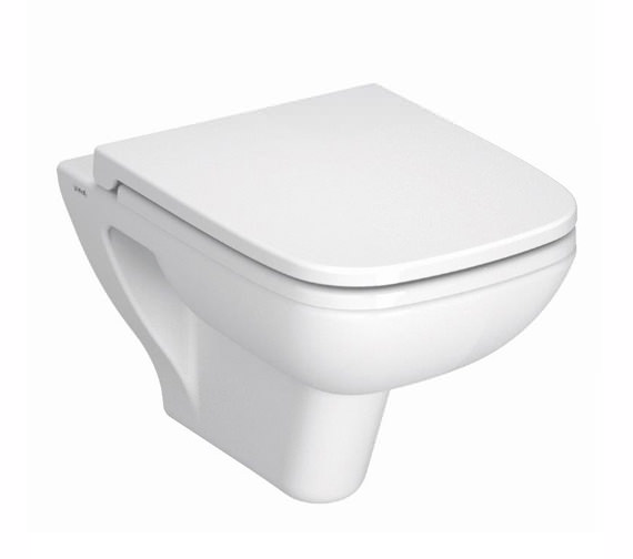 VitrA S20 Wall Hung WC Pan With Toilet Seat - 5505L003-0101