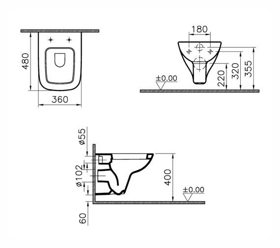 Technical drawing QS-V59722 / 5505L003-0101