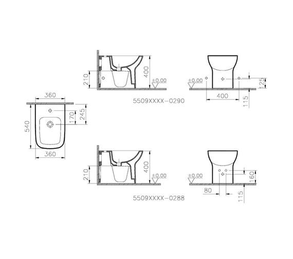 Technical drawing QS-V59723 / 5509L003-0288