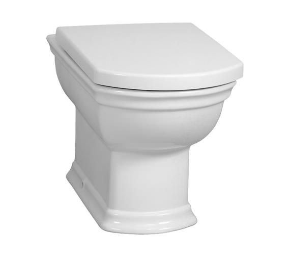 VitrA Serenada Back-To-Wall WC Pan With Toilet Seat - 4164B003-0075