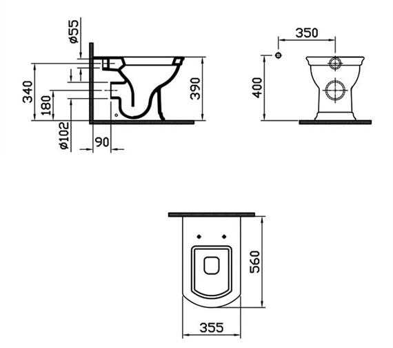 Technical drawing QS-V59741 / 4164B003-0075