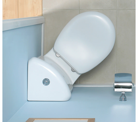 Additional image of VitrA Layton Close Coupled WC With Corner Cistern And Standard Seat
