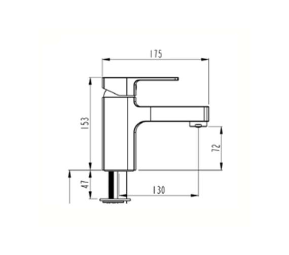 Technical drawing QS-V59755 / A40779VUK