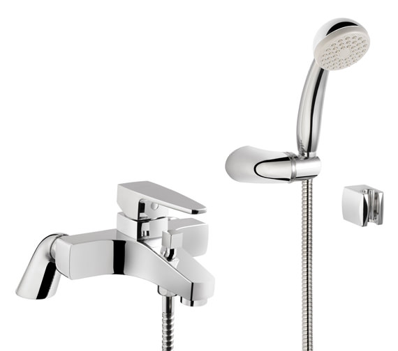 VitrA Q-Line Bath Shower Mixer Tap Chrome With Shower Kit