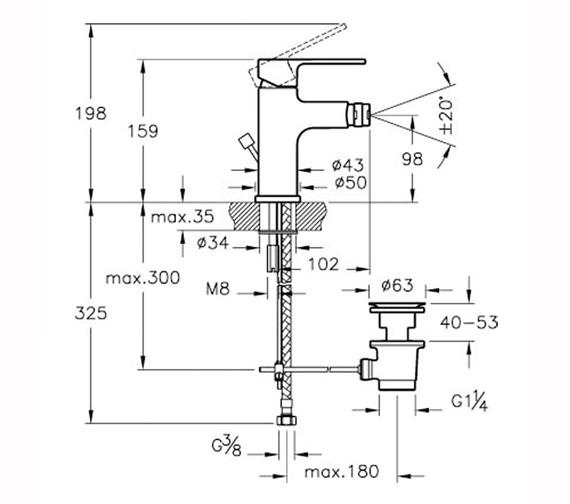 Technical drawing QS-V59757 / A40777VUK