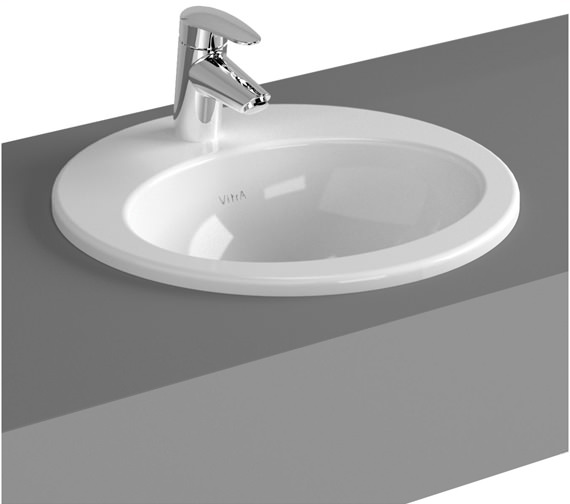 Commercial Basin : VitrA S20 Commercial 43cm Countertop Basin Oval 1TH 5466B003-0001