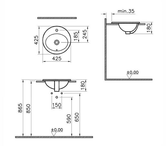 Technical drawing QS-V59815 / 5466B003-0001