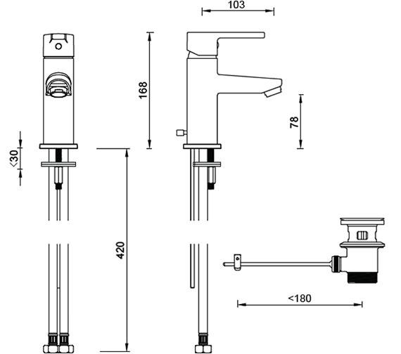 Technical drawing QS-V59832 / ET111