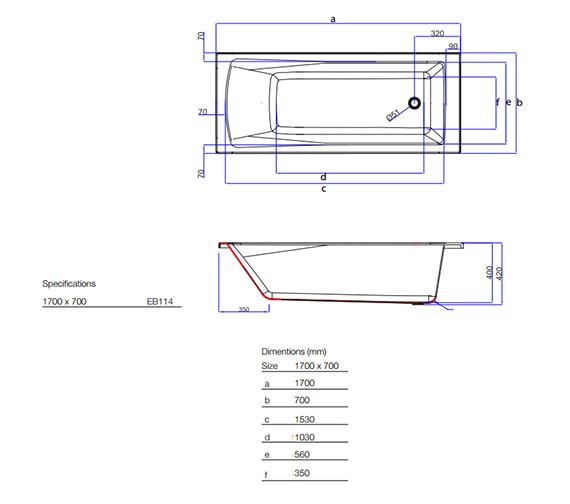 Technical drawing QS-V59846 / EB114