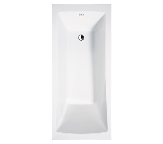 Essential Tide Single Ended Bath 1800x800mm White - EB116