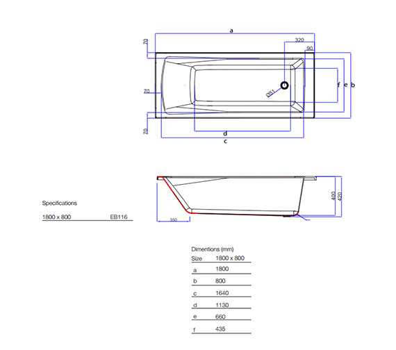 Technical drawing QS-V59848 / EB116