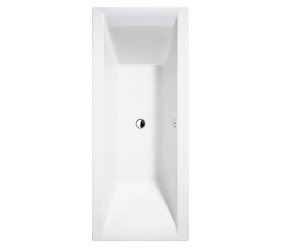 Essential Wave Double Ended Bath 1700x750mm White - EB118