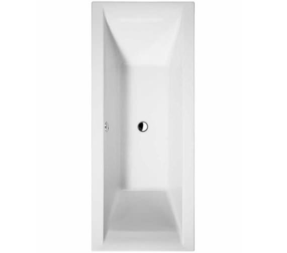 Essential Wave Double Ended Bath 1800x800mm White - EB119