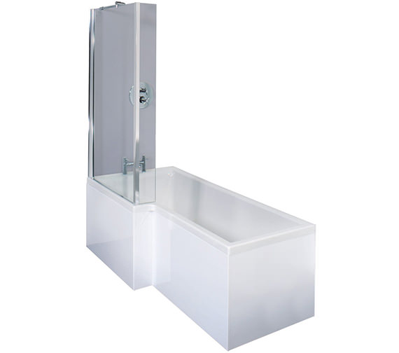 Essential Square Left Hand Shower Bath Pack - EBS001