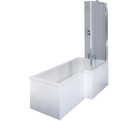 Essential Square Right Hand Shower Bath Pack - EBS002