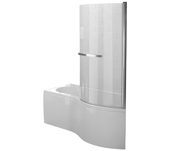 Essential Hampstead P Right Hand Shower Bath Pack 1500x900mm - EBP002