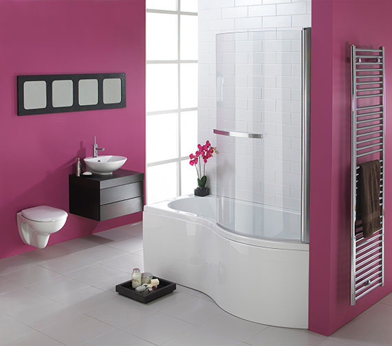 Additional image of Essential Hampstead P Right Hand Shower Bath Pack 1700x900mm - EBP004