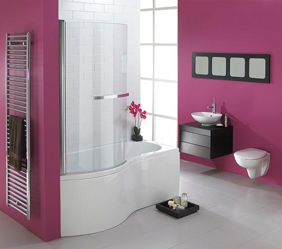Essential Hampstead P Left Hand Shower Bath Pack 1700x900mm - EBP003
