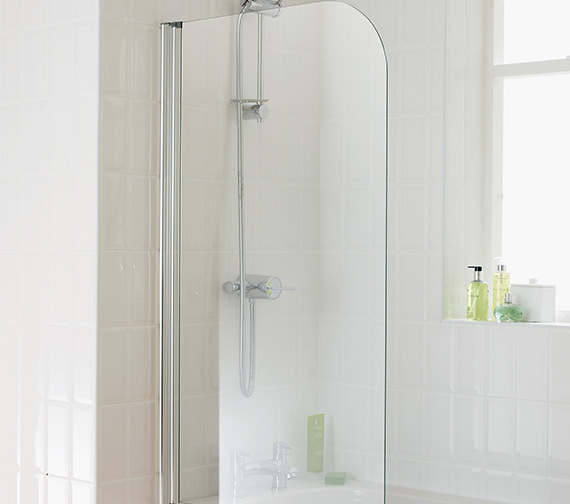 Essential Element Curved Bath Screen 750x1300mm - EB301