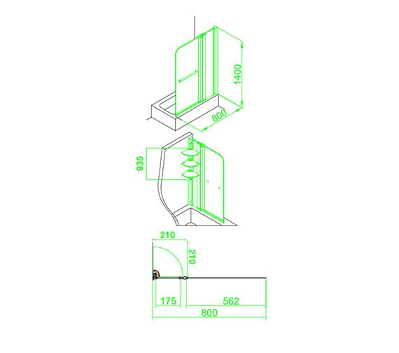 Technical drawing QS-V59861 / EB304