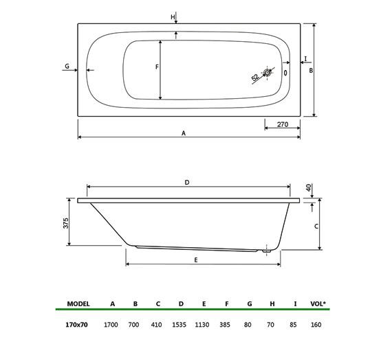 Technical drawing QS-V34738 / 154MERCURY1770