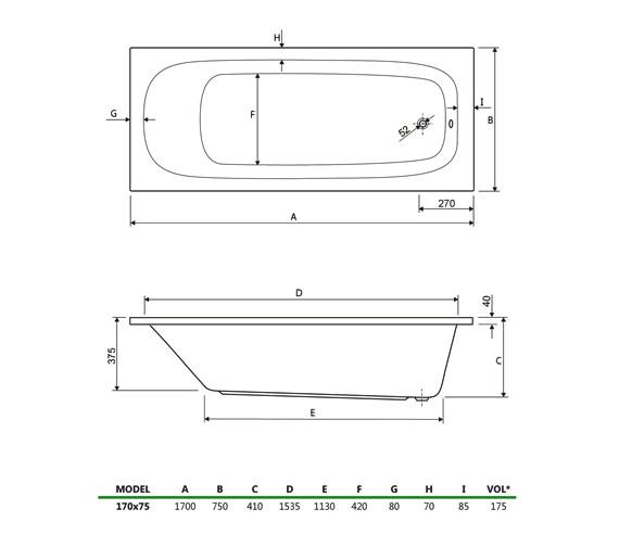 Technical drawing QS-V34739 / 154MERCURY1775