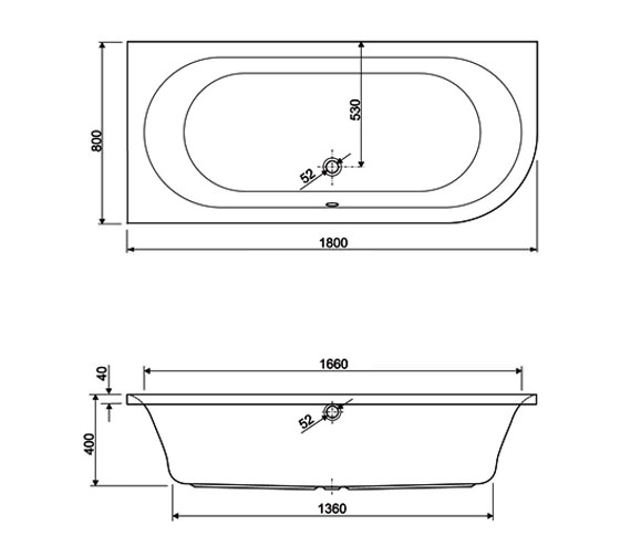 Technical drawing QS-V59971 / 154METAURO2LH1880