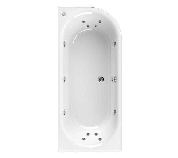 Aquaestil Metauro 2 Left Hand 1800 x 800mm 14 Jets Whirlpool Bath