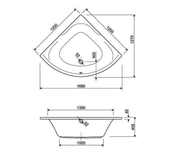 Technical drawing QS-V34712 / 154SATELLITE