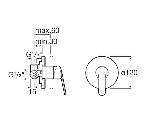 Technical drawing QS-V60002 / 5A2225C00