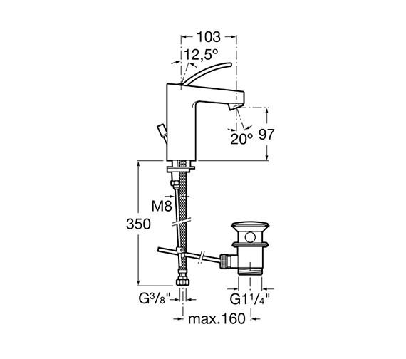 Technical drawing QS-V60013 / 5A3046C00