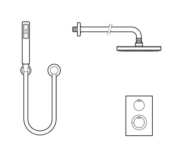 Technical drawing QS-V60057 / 5A2962C00