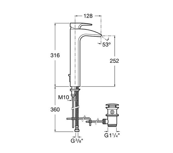 Technical drawing QS-V60059 / 5A3450C00
