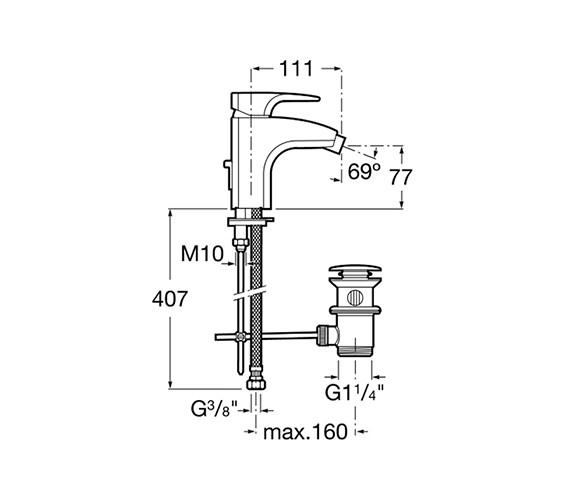 Technical drawing QS-V60061 / 5A6050C00