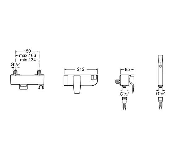 Technical drawing QS-V60064 / 5A2050C00