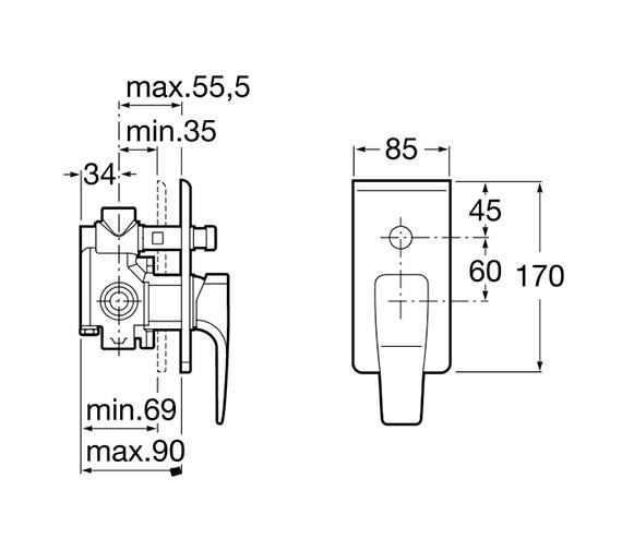 Technical drawing QS-V60065 / 5A0650C00