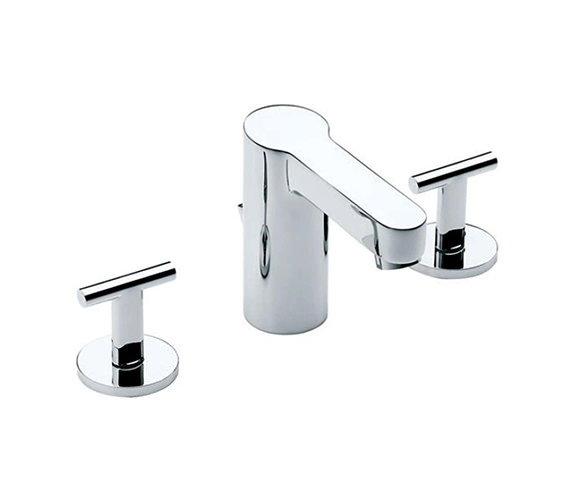Roca Moai Deck Mounted Basin Mixer Tap With Pop-Up Waste - 5A4446C00