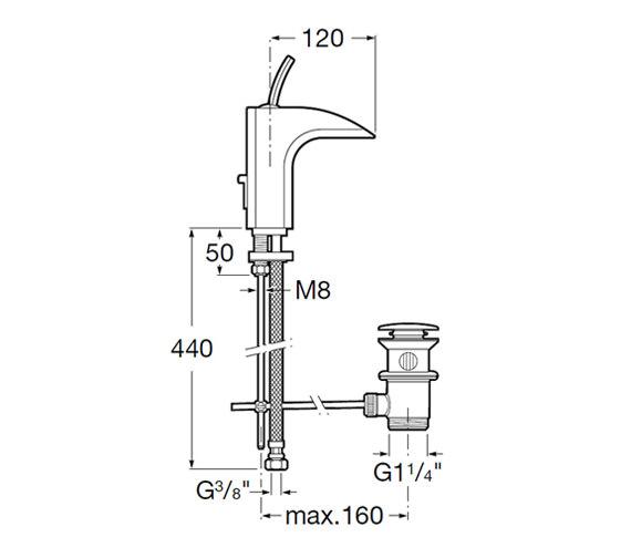 Technical drawing QS-V60097 / 5A3049C00