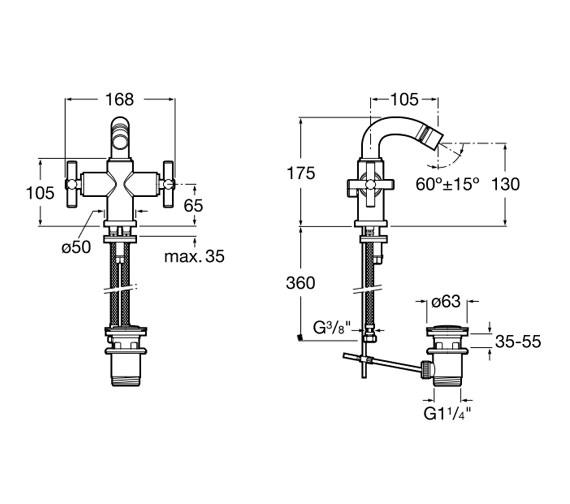 Technical drawing QS-V60106 / 5A6043C00