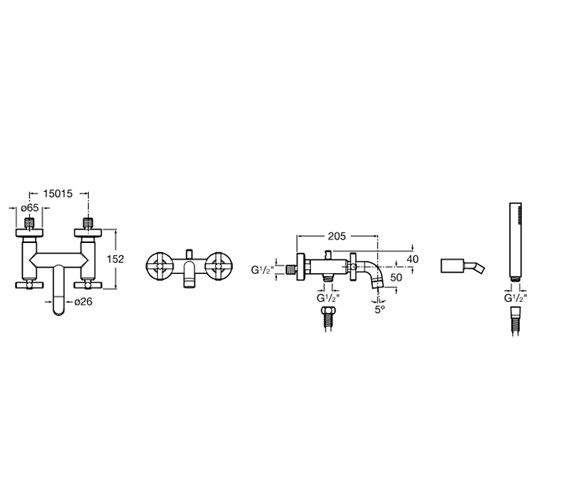 Technical drawing QS-V60108 / 5A0143C00