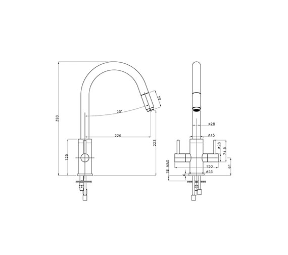 Technical drawing QS-V6010 / KIT227